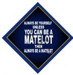 Metal car hangers -Always be a matelot